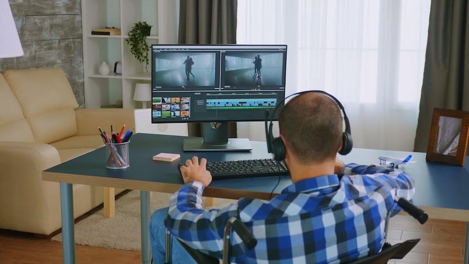 Montaż filmów - pomysł na pracę z domu